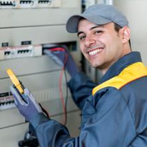 Electricians test